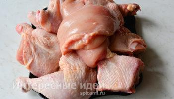 Как разделать курицу на куски легко и просто