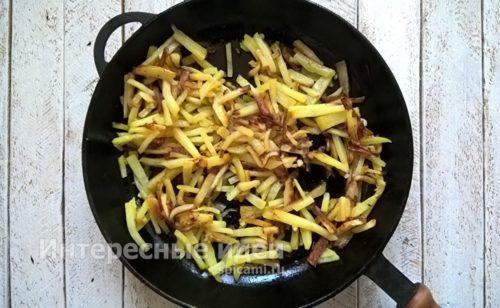 картофель обжарить