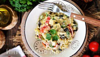 Салат «Вкуснотища» из баклажанов с яйцом
