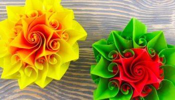 Розы из бумаги без клея — интересный способ, которым мало кто пользуется