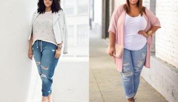 Модные джинсы для полных женщин после 40 лет