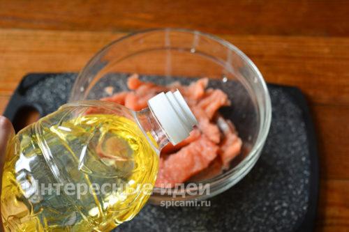 залить рыбу маслом