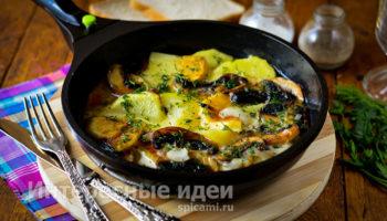 Картошка с грибами в сливках — ну очень вкусно