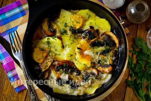 готовую картошку посыпать зеленью