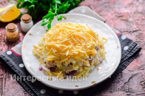 слой тертого сыра