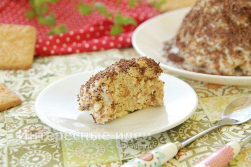 торт из печенья готов
