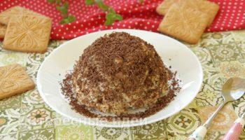 Простой и вкусный торт из печенья без выпечки со сгущенкой и маслом