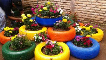 Цветники на даче своими руками из подручных материалов