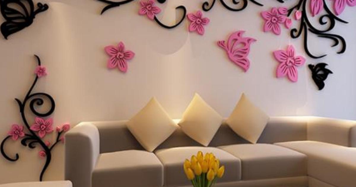 украшение стен розовыми цветами