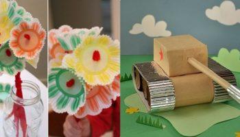 4 красивые поделки на 9 мая в детский сад своими руками