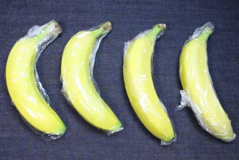 бананы в пленке