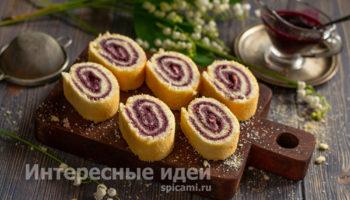Рулет удачного бисквита — пышный и мягкий
