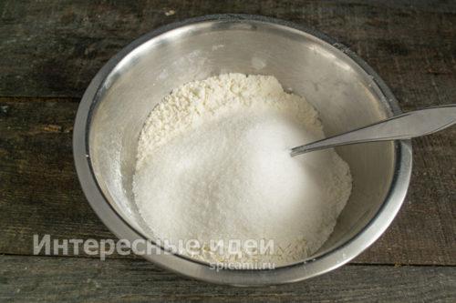 добавить сахар