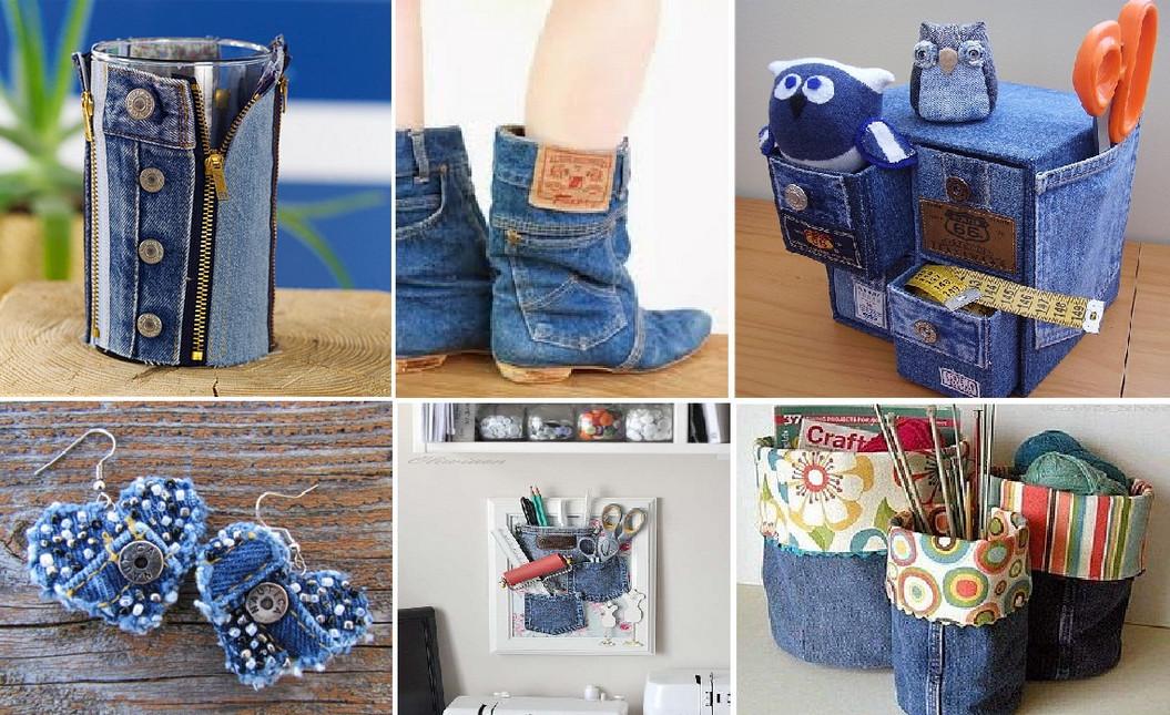 10 крутых идей! Разрежь старые джинсы и смастери новые вещи
