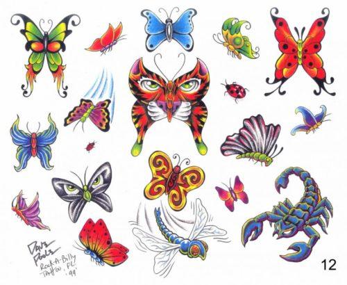 Рисуем татуировку карандашом малышам