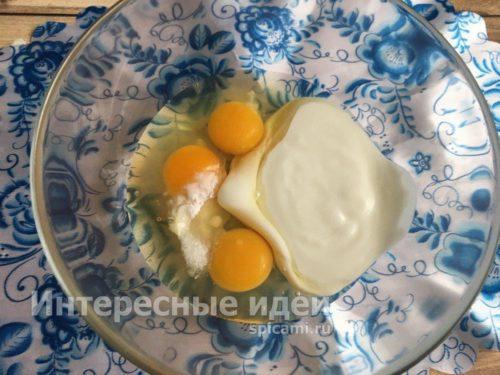 яйца, кефир, сода, соль