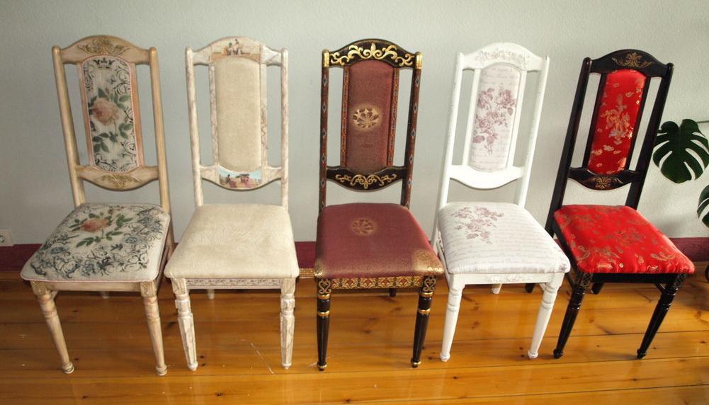 декорирование старых стульев своими руками фото сера был