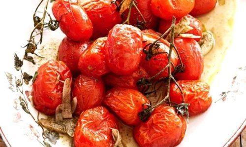Печеные помидоры черри